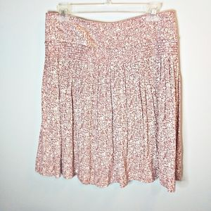 Max Studio Pink Floral Pleated Skirt Size M
